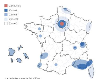 Carte Zonages Pinel